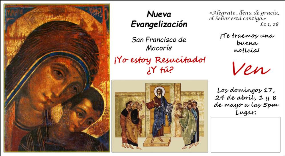 Cartel invitación en Parroquias 2016
