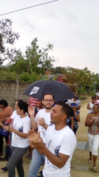 Evangelización Pascual 2016 en el Factor de Nagua.