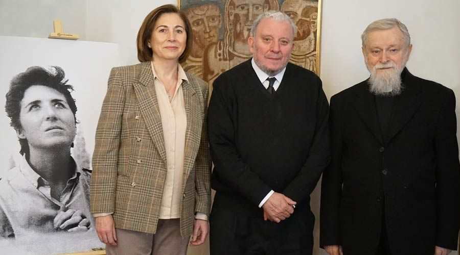 María Ascensión Romero, Kiko Argüello y el P. Mario Pezzi